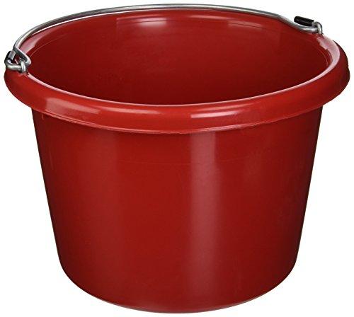 FORTEX INDUSTRIES 280046 Utility Pail Red, 8 Quart