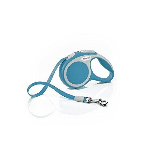 flexi Roll-Leine Vario XS Gurt 3 m türkis für Hunde, Katzen und Kleintiere bis max. 12 kg