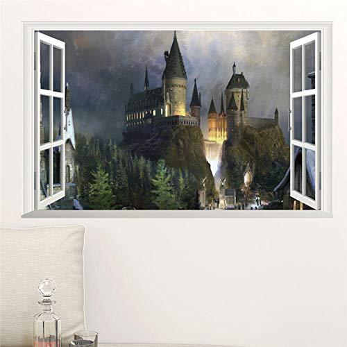 Autocollant mural Harry Potter Chambre d'enfants Chambre Salon Fenêtre 3D Sticker Affiche