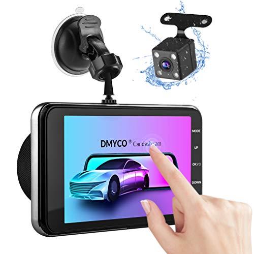 Dashcam Vorne Hinten Autokamera 4 Zoll IPS Full HD 1080P Touchscreen 170 ° Weitwinkel, G-Sensor, WDR, Parkmonitor, Loop-Aufnahme, Bewegungserkennung