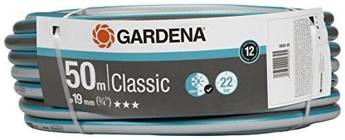 Gardena Classic Schlauch 19 mm (3/4 Zoll), 50 m: Universeller Gartenschlauch aus robustem Kreuzgewebe, 22 bar Berstdruck, UV-beständig, ohne Systemteile, 12 Jahre Garantie, verpackt (18025-20)