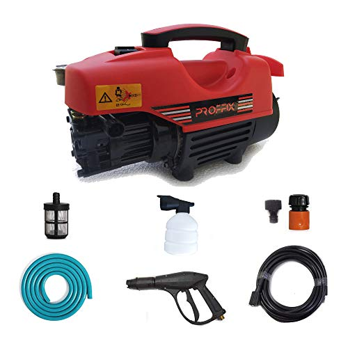 Tech TrendZ PROFFIX Car and Bike Washer/Cleaner High Pressure with Fully Loaded Accessories | Universal Portable Modern Technique Professional Kit for Automobiles |1900 PSI- Portable Machine