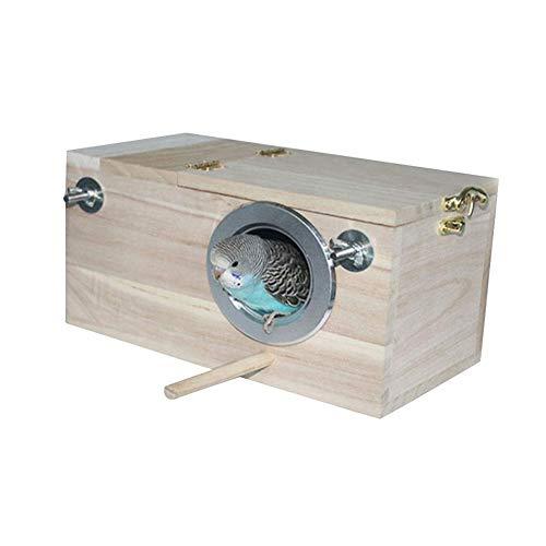 decaden Nistkasten Sittich Vogelkäfig Vogelhaus Wellensittich Holz Paarungszucht Box Für Lovebirds Premium Wood Practical Partition Wide-Anwendungen 9,65 5,12 5,12 Zoll