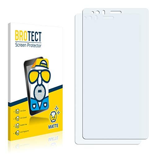 BROTECT 2X Entspiegelungs-Schutzfolie kompatibel mit BQ Aquaris E6 Bildschirmschutz-Folie Matt, Anti-Reflex, Anti-Fingerprint