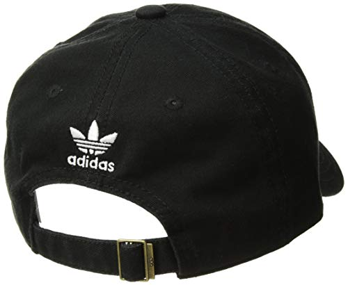 adidas Originals Youth Kids-Boy's/Girl's Boy's Washed Relaxed Strapback Cap, Black/White, ONE Size