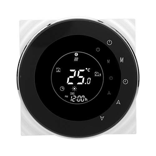 Termostato Electronique, Pantalla táctil LCD digital Control de temperatura del agua del gas para el hogar Termostato programable WIFI Compatible con 14 idiomas, Alexa habilitado AC95-240V 5A