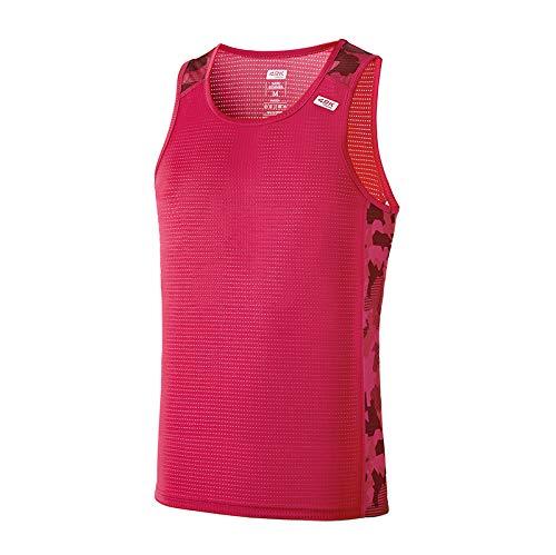 42K RUNNING - Camiseta técnica Tirantes 42k Ares Summer para Hombre Raspberry