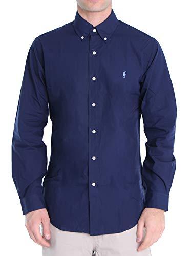 Polo Ralph Lauren Mod. 710792044 Camisa Popelín Stretch Custom Fit Hombre Azul XL