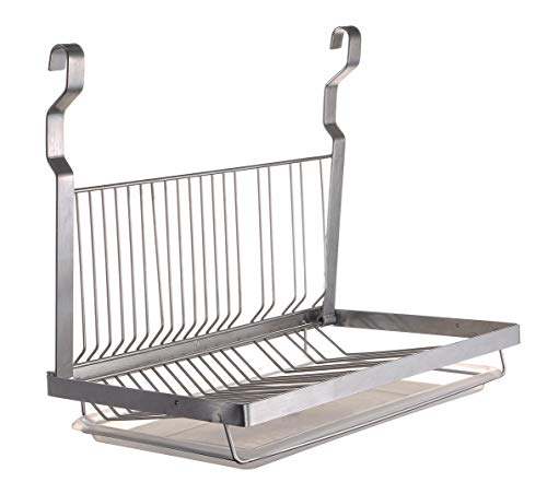 TQVAI Hanging Dish Drying Rack with Drain Board -...