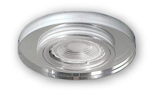 LED Einbaustrahler GU10 230 V Glas Spot S1370WH - Einbauleuchten Strahler inkl. 3 W LED (PA-warmweiss) Leuchtmittel und GU10 Fassung - Deckeneinbaustrahler Deckeneinbauspot Einbauspot