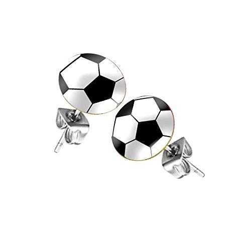Taffstyle Fanartikel Ohrringe für Fußball WM & EM - Fussball Motiv