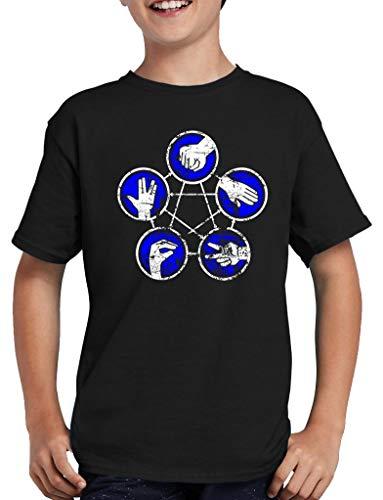 Stein Papier Schere Echse Spock Rules T-Shirt Kinder 152/164 Schwarz