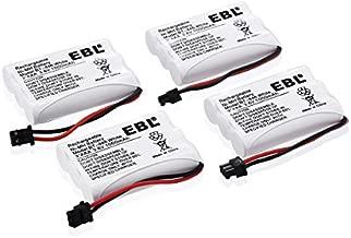 EBL BT-446 Cordless Phone Battery 1000mAh 3.6V Ni-MH Replacement Rechargeable Battery for Cordless Phone BT-446, BT-1005, TRU8885, TRU8885-2 (4-Pack)