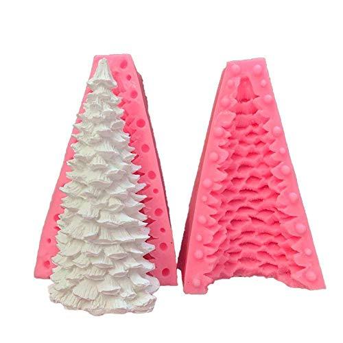 Kitabetty Weihnachtsbaum Silikonform, 3D Weihnachtsbaumform Weihnachtsbaum Kerzenform Silikonseifenform Fondant-Kuchenform Kuchen dekorieren Form Weihnachtsharzgussform, 14×9cm
