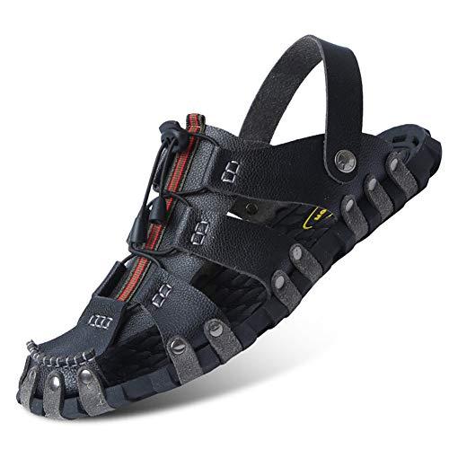 Hombres Sandalias Zapatillas Antideslizantes Resistente al Desgaste Casual Zapatos Adolescentes Verano Outdoor Beach Sandalia Calzado de Agua para Nadar