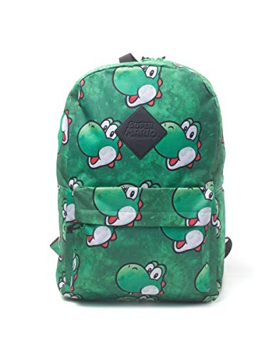 Nintendo Super Mario Bros. Yoshi Face Sublimation Print Backpack, Multi-colour (BP365318NTN) Zaino Casual, 28 cm, 20 liters, Multicolore (Multicolour)