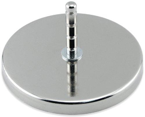 Master Magnetics rb100post Magnetischer Haken mit gerillter Post chrom, 12,4cm Durchmesser,...