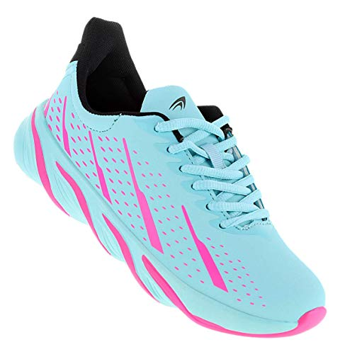 Bootsland Damen Herren Sportschuhe Sneaker Turnschuhe Freizeitschuhe 075, Schuhgröße:39, Farbe:Türkis