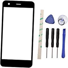 Outer Screen Front Glass Lens Replacement for Nokia 2 N2 TA-1029 TA-1035 (Not LCD and Not digitizer) (Black)