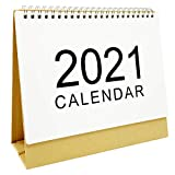 2021 Standing Desk Calendars Month Desktop Stand Up Calendar Wirebound Table Standup Simple Design Monthly Scheduler from Next Months of 2020 to Dec 2021 (M)