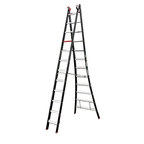 Altrex 0000417 ladder van aluminium, handmatig, aantal treden: 2 x 8