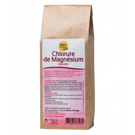 CHLORURE DE MAGNESIUM paquet de 500 grs