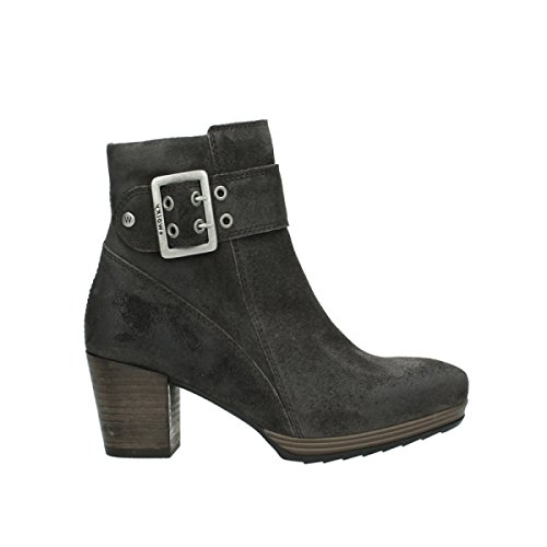 Wolky High Top Stiefel 8026 Hopewell, - Veloursleder 421 anthrazit - Größe: 40 EU