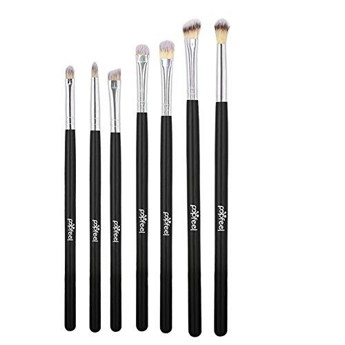 Ensemble de pinceaux de maquillage pour les yeux, ensemble de brosse à paupières 7 pcs, outils de maquillage de brosse de mélange Kit de brosses à cosmétiques