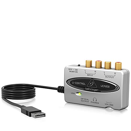 Best Price Square USB Audio Interface, 2 IN / 2 out UCA202 by BEHRINGER