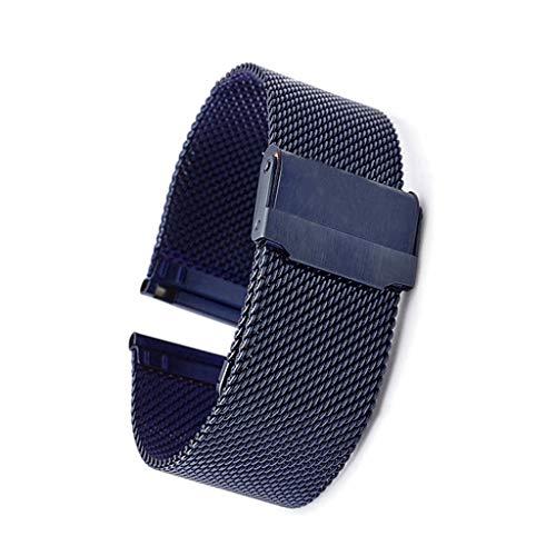 hainan Correa de repuesto compatible con correa de 12 mm a 24 mm, correa de metal, correa de repuesto