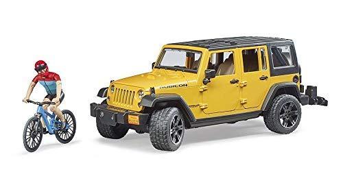 bruder 02543 – Jeep Wrangler Rubicon Unlimited con 1 Mountain Bike e Ciclista