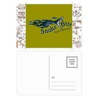 動物のillustrarionかむヘビ柄 公式ポストカードセットサンクスカード郵送側20個