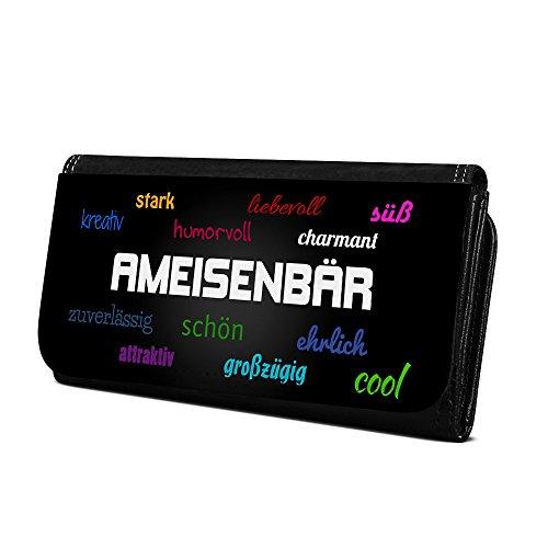 Geldbörse mit Namen Ameisenbär - Design Positive Eigenschaften - Brieftasche, Geldbeutel, Portemonnaie, personalisiert für Damen und Herren