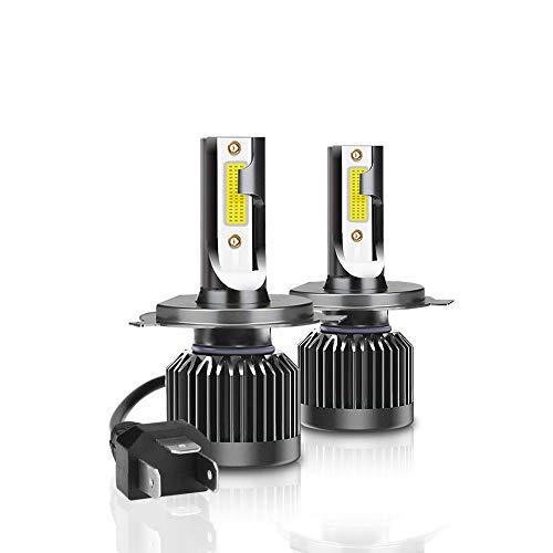 YUCARAC H4 LED Phare de Voiture, kit de Remplacement pour 12000LM 110W pour Lampes au xénon halogène, Blanc, 6000K, Parfait pour Toutes Les Voitures H4, Lot de 2