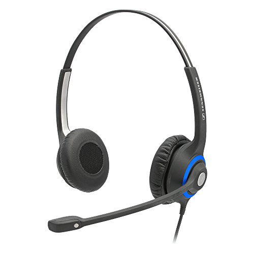 Sennheiser DeskMate Dual-Ear Corded Office Telephone Headset with Noise-Canceling Microphone.