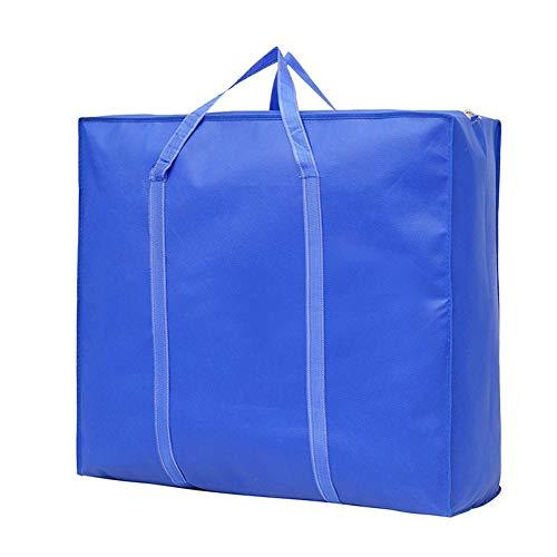 Non-Woven-Beutel-Große Kapazität Wasserdichten Organisator Zusammenklappbare Aufbewahrungstasche 2Er-Set Staub Und Feuchtigkeit Gepäck Taschen Umzug,Blau,80 * 64 * 25cm