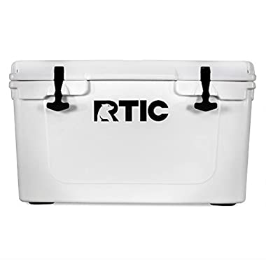 RTIC 45 Qt. Roto-Molded Heavy Duty Commercial Grade White Cooler