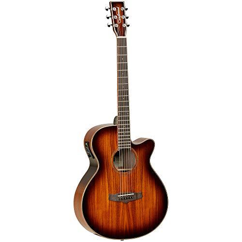 Tanglewood: Winterleaf Folk Cutaway Electro Acoustic Guitar - Koa. Electro-Acoustic Guitar
