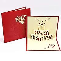 EVE「HAPPY BIRTHDAY」3Dポップアップグリーティングカードハッピーバースデーカードかわいいバースデーグリーティングカード立体紙彫刻はがき3D greeting card