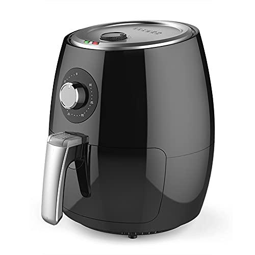 Freidora De Aire De Tamaño Familiar 4.8QT, Freidora De Aire Eléctrica De 1500 W, Cocina Sin Aceite, Sistema De Circulación De Aire Rápida, Con Temporizador Y Control De Temperatura