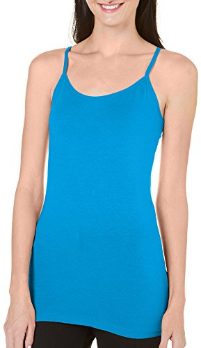 Allison Brittney Women's Scoop Neck Camisole with Adjustable Straps, Indigo Bunting, S