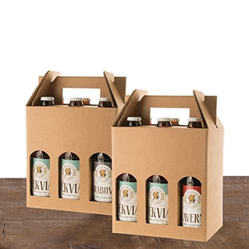 BIRRE AMBRATE ROSSE SCURE - Artigianale Agricola - 12 bottiglie 33 cl - (2 KLAVERNIA dark strong ale+ 4 HERIETUS double IPA + 4 TEKVIA ambrata + 2 GRABOVIA stout) - confezione regalo