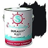 Duralux M722-1 Marine Paint, Gloss Black Boat Paint, 1 Gallon