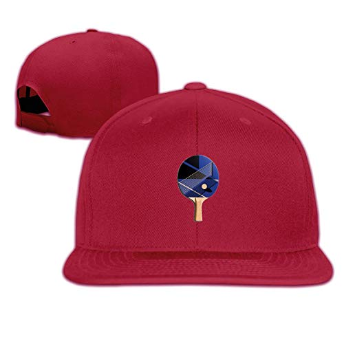 Ping Pong Tennis Mens Baseball Cap Flat Bill Snapback Dad Hat For...