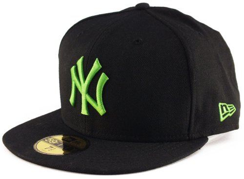 New Era New York Yankees 59fifty Cap Season Basic Black/Island Green - 7 1/4-58cm