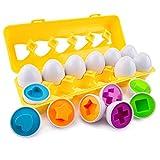AIEX 12 Piezas Huevos a Juego Juguete Educativo de Aprendizaje de...