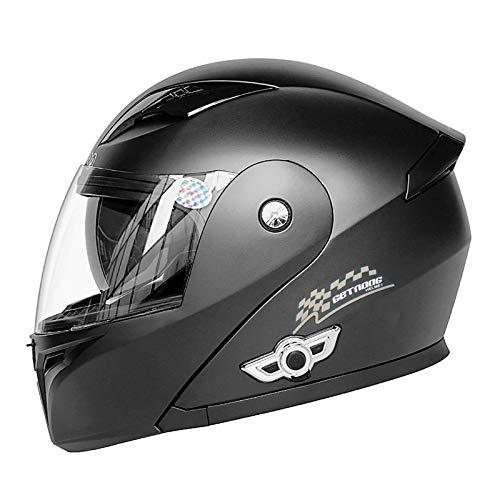 ACEMIC Casco abatible para Motocicleta, Aprobado por Dot, Bluetooth Integrado, Casco Integral Modular para Motocicleta, Casco Protector para Motocicleta con Visera Doble, Casco liviano para Hombres