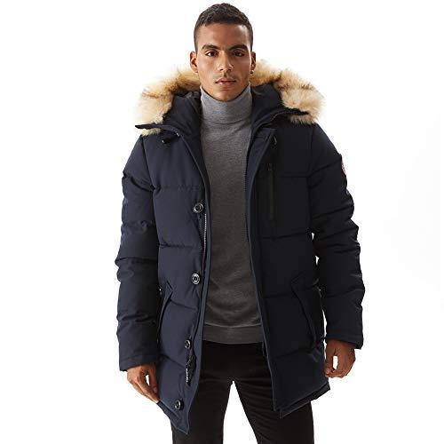Mens Warm Jacket Waterproof Quilted Hood