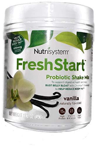 NUTRISYSTEM FRESH START SHAKE (Probiotic Bust Belly Bloat) VANILLA SHAKE MIX 17.3 OZ - 14 Servings - Support Digestive Health & Help Bust Belly Bloat