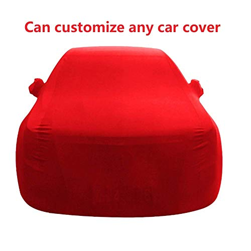 ZKKWLL Telo copriauto Copertura Completa per Auto, Cofano Esterno Piccolo, Compatibile con BMW 5 copriauto antigrandine (Color : Red)